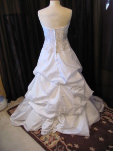 Bustling Wedding Gowns In Anoka MN Part 2 Basic Under Bustle