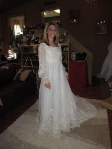 Wedding Dress Before Alteration